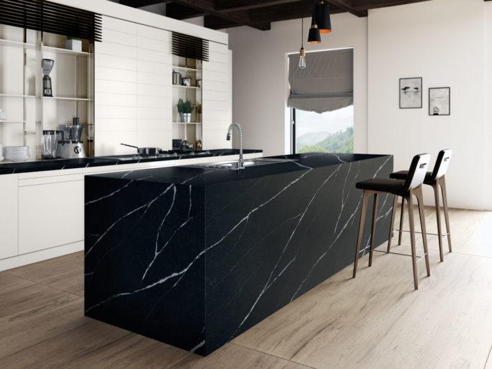 Silestone-Kitchen-Europea-Eternal-Marquina