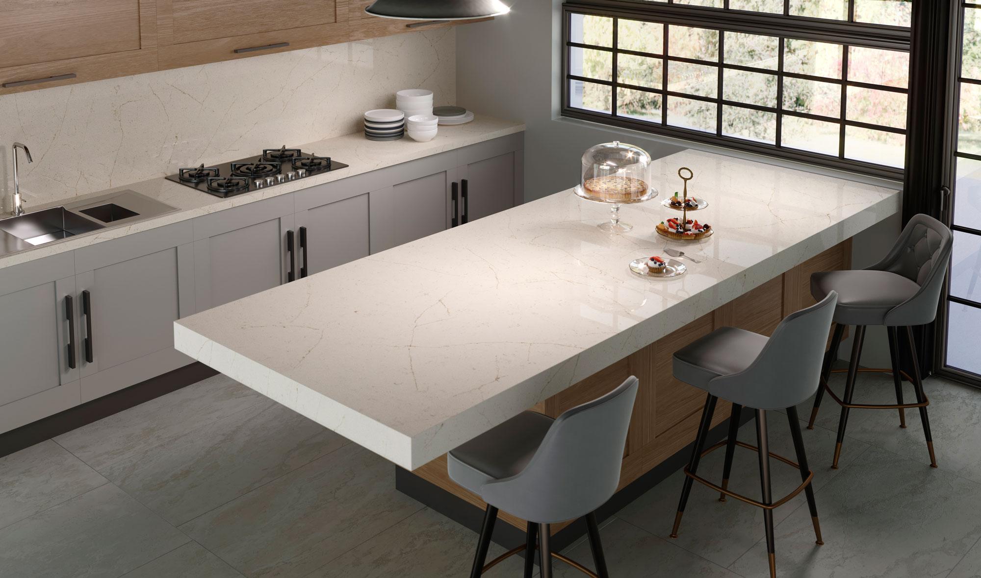 Silestone-Kitchen-Eternal-Marfil